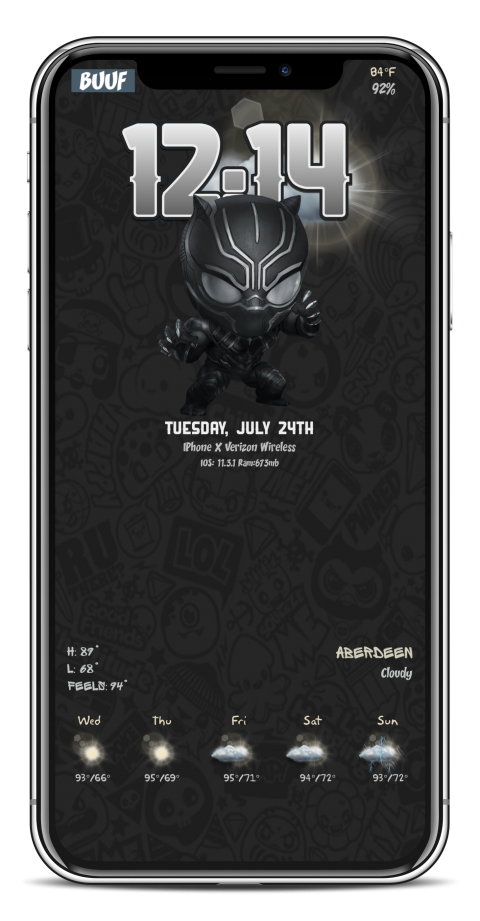 Black Panther caged in iPhX - 2019-03-13