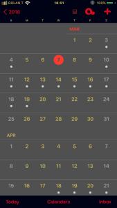 Colorize - Calendar-MidnightGraphiteGold - 2019-03-24