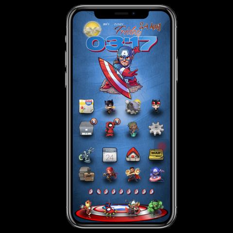 Docks - Captain America Shield (iPhX).theme - 2019-04-20