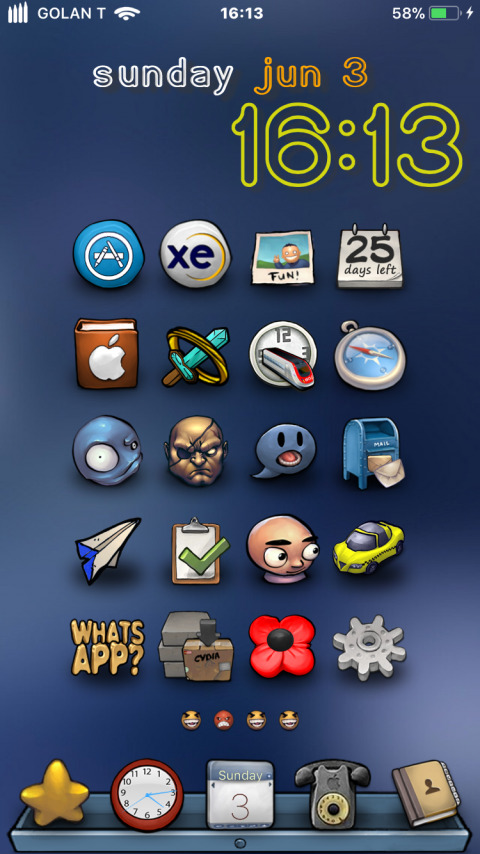 Docks - Drawer Blue (iPhX) - 2019-04-20