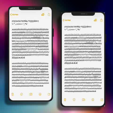 Fonts - Hey Gorgeous (iOS13 - 100) - 2.1
