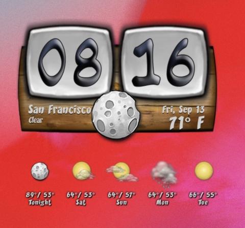 Forecast - Old Style Buuf Clock #1 - 2019-09-16b