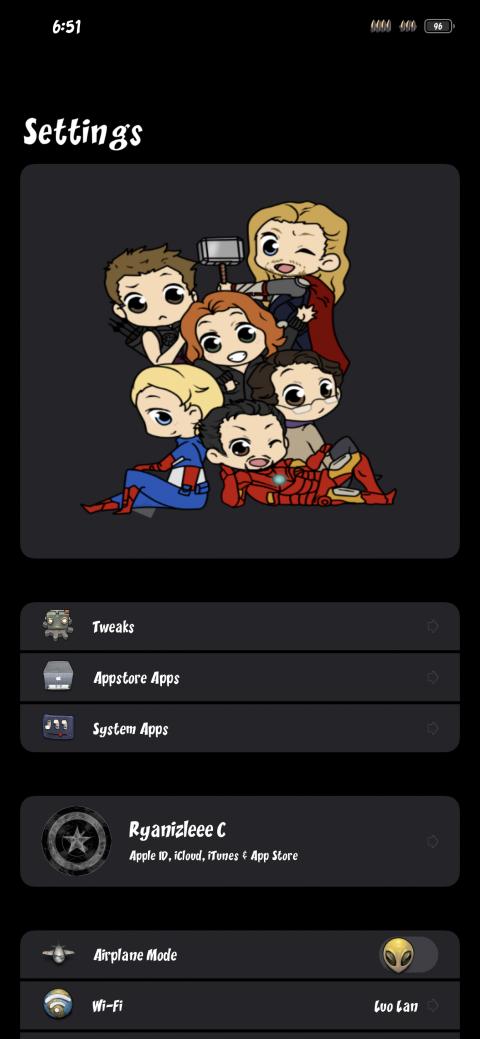 Settings Avatar - Avengers mini screen - 1.1