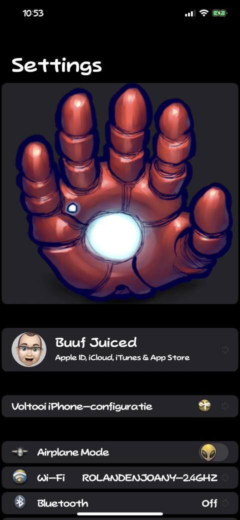 Settings Avatar - Iron Man Hand - 2.9