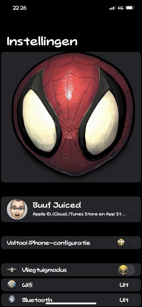Settings Avatar - Spiderman - 2.9