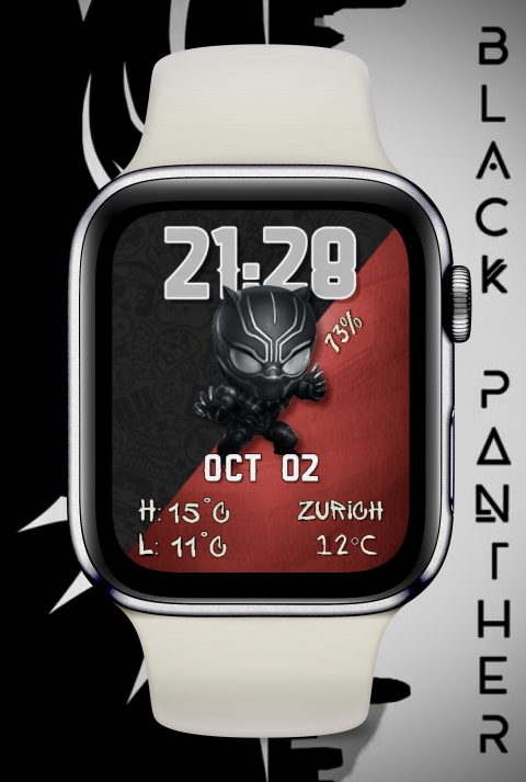 Watch Face Black Panther - 2.0