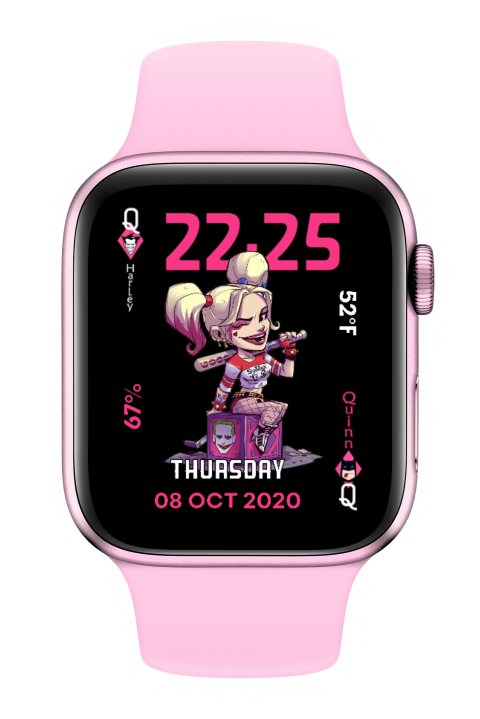 Watch Face Harley Quinn loves Scarch - 2.0