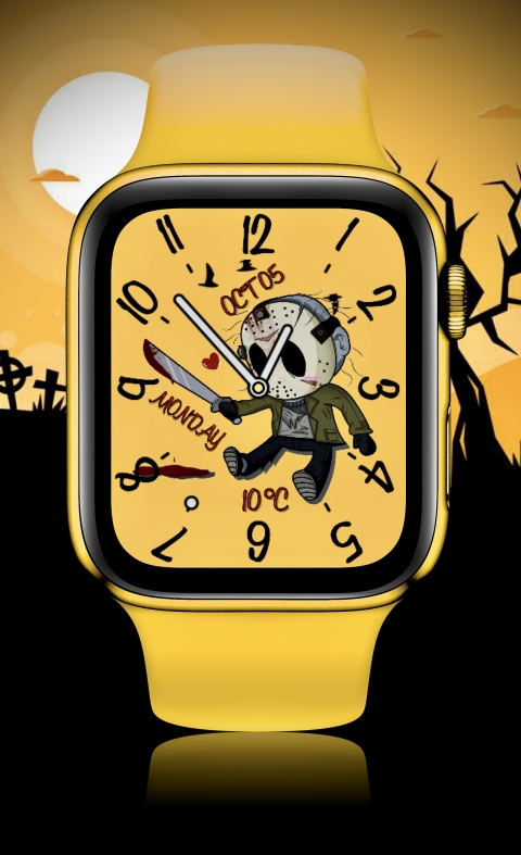 Watch Face Jason Voorhees is Scarched - 2.0