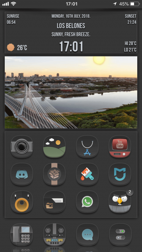 Dark Moon SB Widget - 1.4