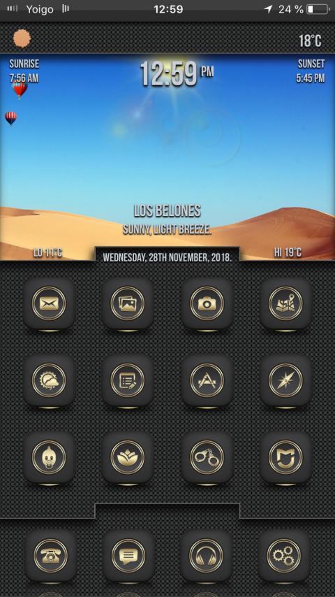 Desire Black Gold SB widget - 1.1