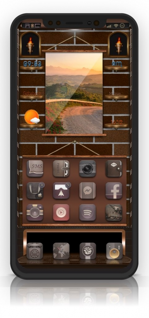 Rustic Fire SB widget - 1.2