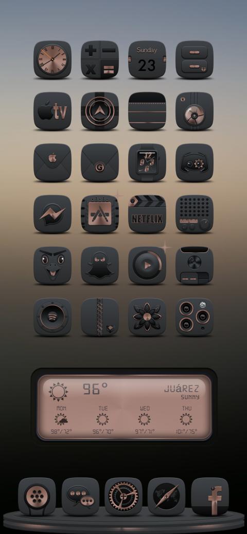 1luminat1 Copper DK Weather 2 widget - 1.0