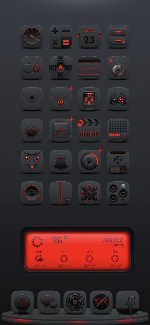 1luminat1 RED DK Weather 2 widget - 1.0