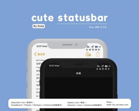 Cute Version1 Statusbar - 1.11