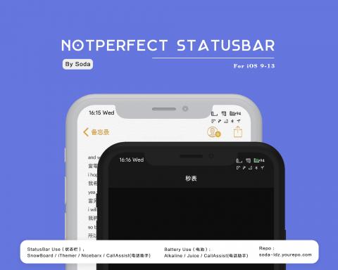 NotPerfect Statusbar - 1.33